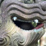 由貴神社【赤い舌の狛犬】