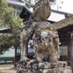 松江神社【顔面スッパリな狛犬】