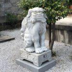 船玉稲荷神社【ムクムク狛犬と見づらい看板】