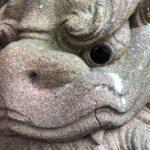須衛都久神社【目が真っ黒すぎる狛犬】