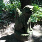 羽島神社【そっぽ向いた狛犬】