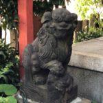 亀塚稲荷神社/渋い狛犬