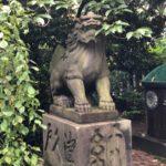 筑土八幡神社【猿と桃の庚申塔】