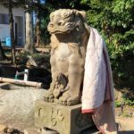 照床神社【狛犬に毛布かけちゃった☆】