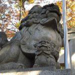 諏訪神社/立川市【近づけない狛犬】