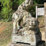 比津神社【独特なおすわり狛犬】