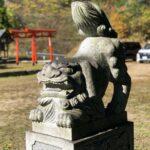 竝九神社【かわいい構え獅子】